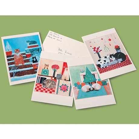 Christmas Cats Note Cards