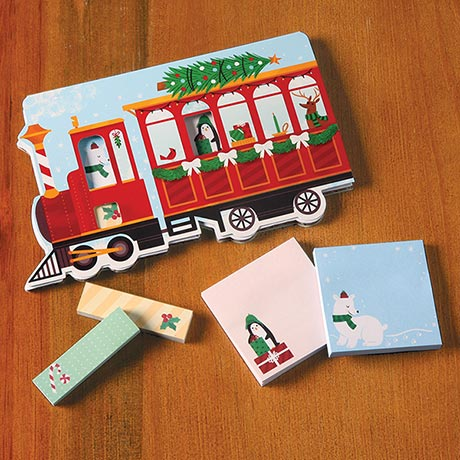 Christmas Train Sticky Notes