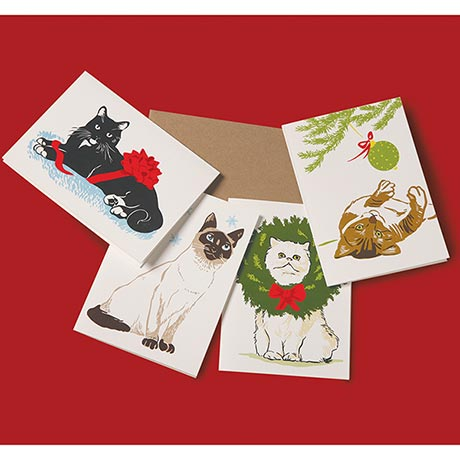 Holiday Cats Note Cards