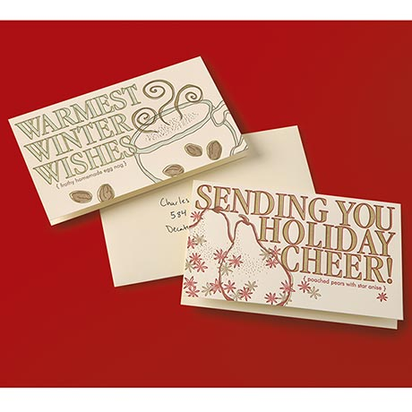 Holiday Recipe Letterpress Cards