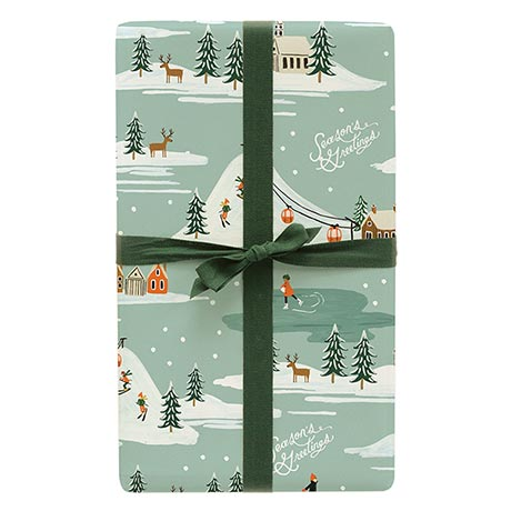 Season's Greetings Wrapping Sheets