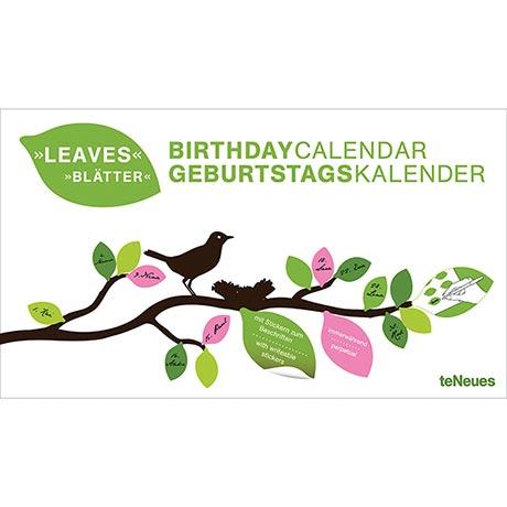 Leaves Birthday Calendar