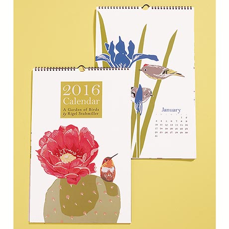 A Garden of Birds 2016 Wall Calendar