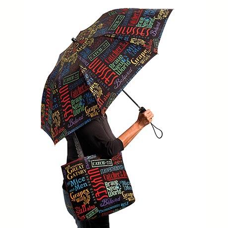 Banned Book Pop-Up Umbrella