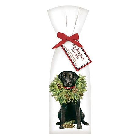 Christmas Black Lab Towel Set