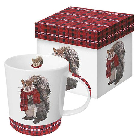 Cozy Critter Mug - Spencer the Squirrel
