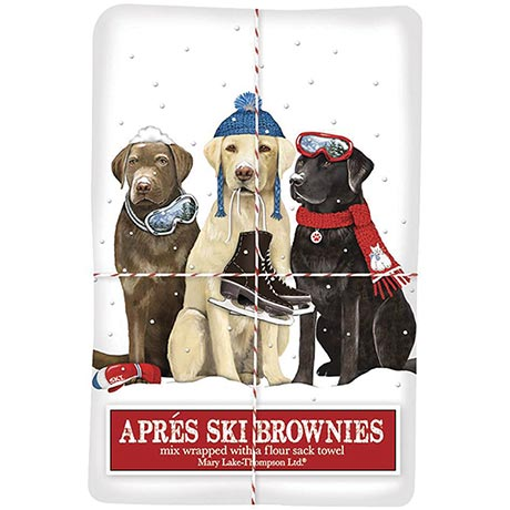 Winter Dogs Tea Towel and Brownie Mix