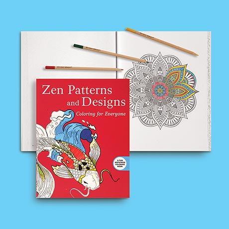 Zen Patterns Coloring Book with Pencils
