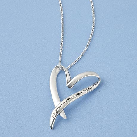 A Light Heart Lives Long Sterling Necklace