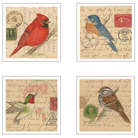 Birds on Letters Coasters