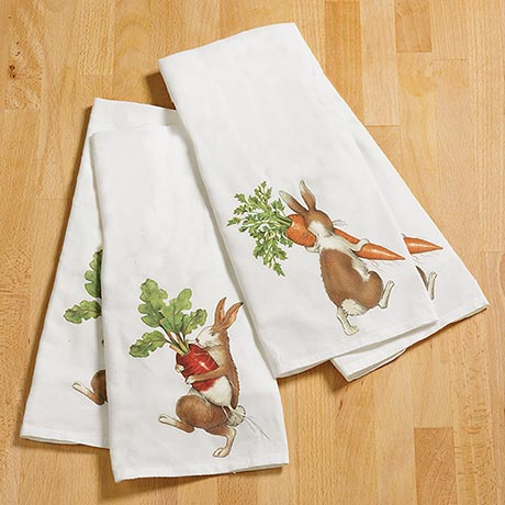 Carrot Thief Towel Set
