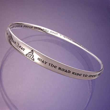 """May the Road Rise to Meet You"" Möbius Bracelet"