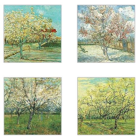 Van Gogh Tree Coasters