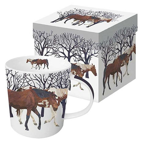 Winter Wildlife Mug - Winter Horses