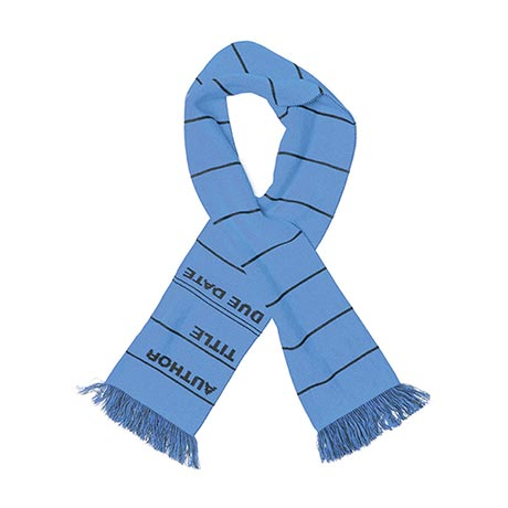 Library Card Scarves - Blue