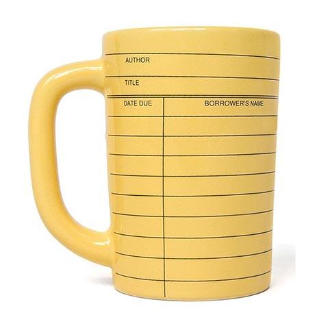 Library Card Mug