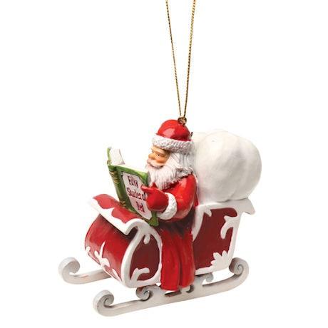 Reading Santa Ornament