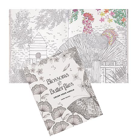 Blossoms and Butterflies Coloring Book
