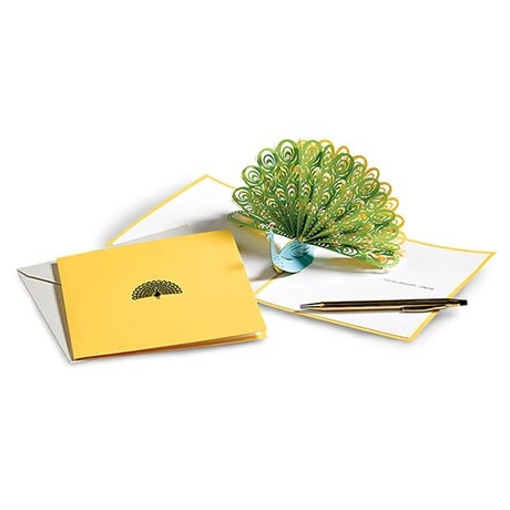 Pop-Up Peacock Card