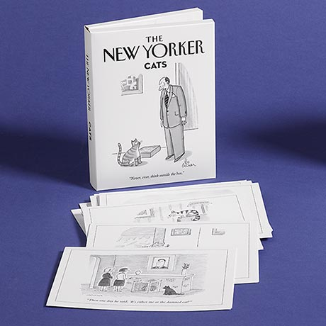 The New Yorker Cat Cartoons Note Cards