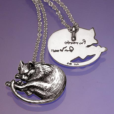 Da Vinci's Cat Sterling Silver Necklace