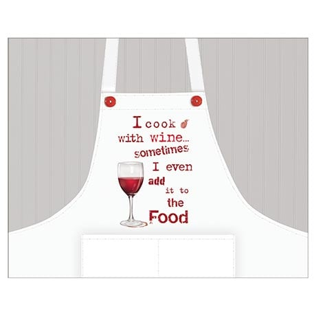 """I Cook with Wine"" Apron"