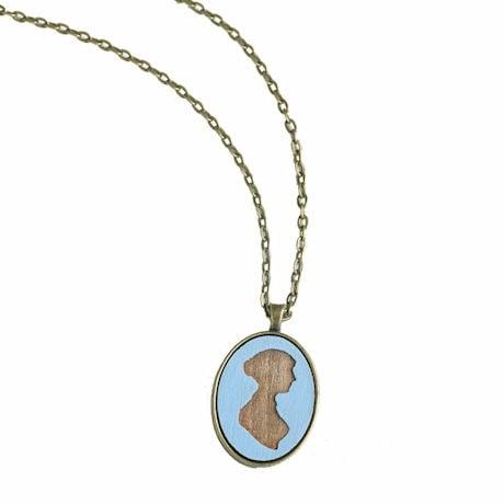Jane Austen Silhouette Necklace
