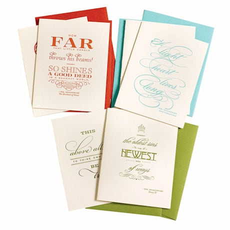 Shakespeare Letterpress Cards