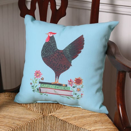 Garden Chicks Pillow