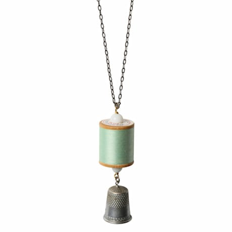 Spool and Thimble Necklace