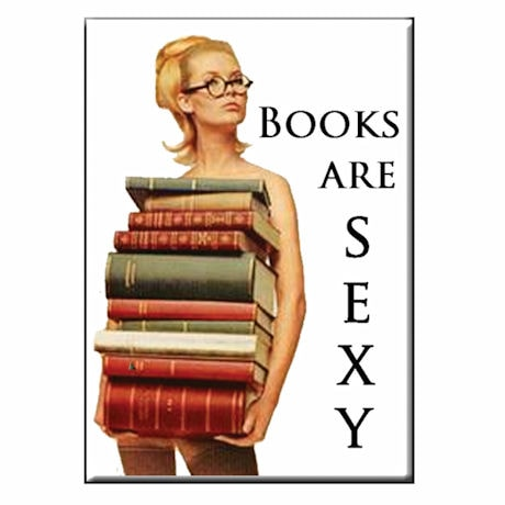 """Books Are Sexy"" Magnets"