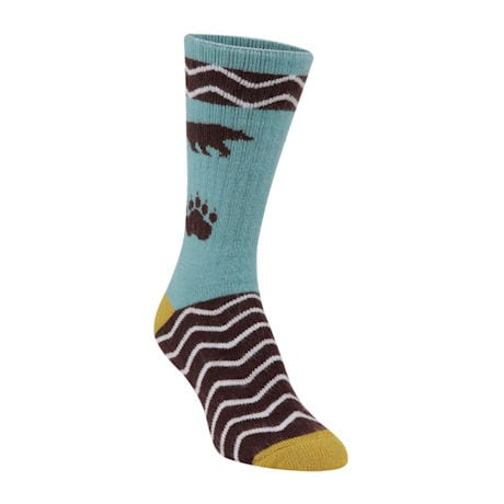National Park Socks - Grizzly (dark aqua)