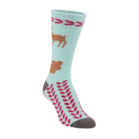 National Park Socks - Reindeer (Light Aqua)