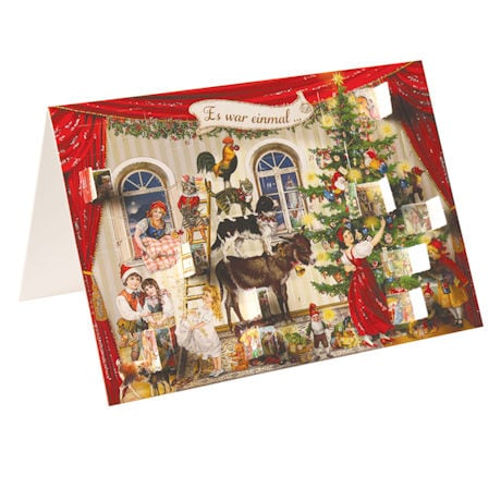 Victorian Advent Calendar Cards