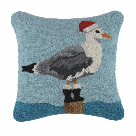 Santa Seagull Pillow