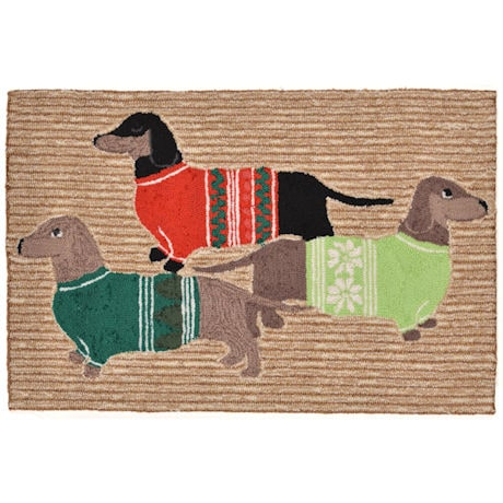 Holiday Hounds Rug
