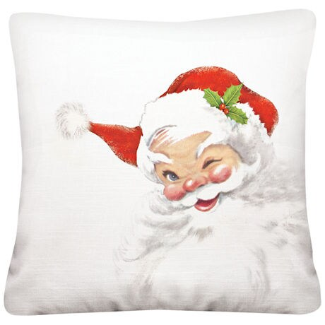 Winking Santa Pillow