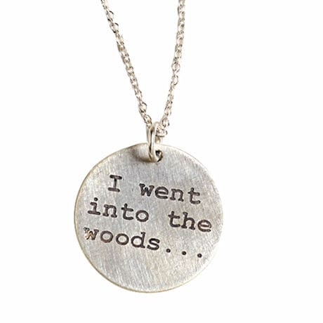 Into the Woods Sterling Silver Necklace