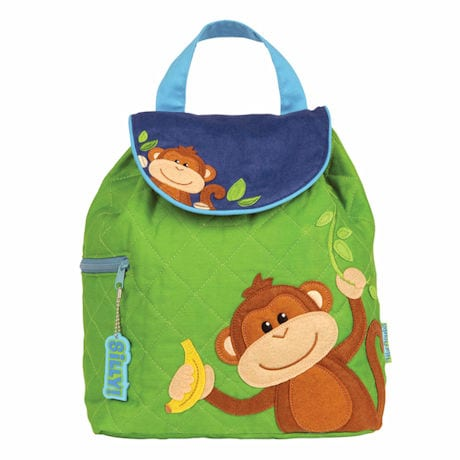 Silly Monkey Quilted Backpacks - Green