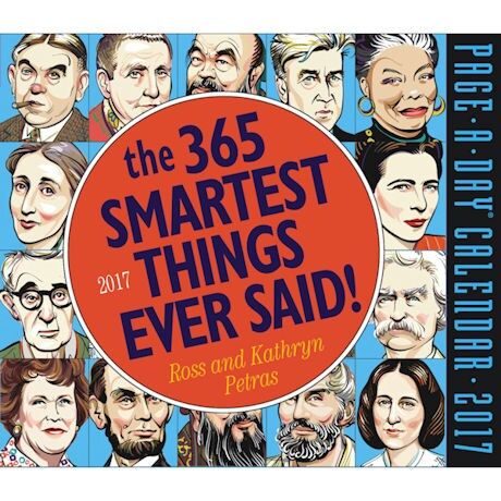 2017 365 Smartest Things Ever Said! Page-A-Day Calendar