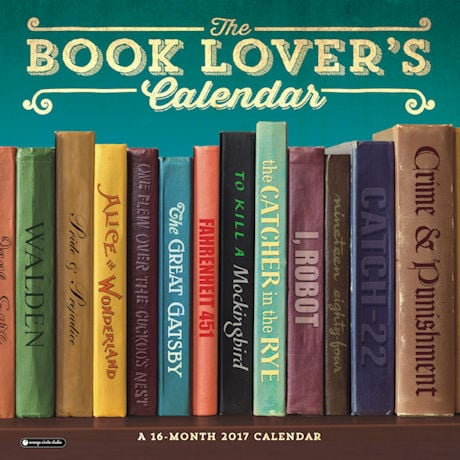 2017 Book Lover's Wall Calendar