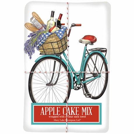 Bicycle Tea Towel with Apple Cake Mix
