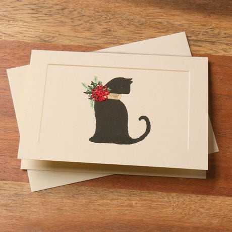 Christmas Cat Tatted Lace Cards