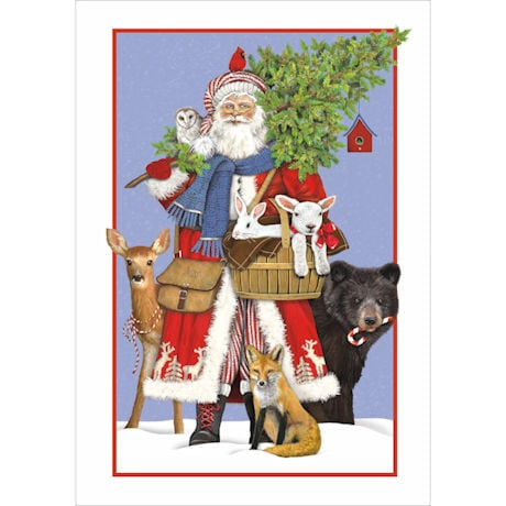 Woodland Santa Cards
