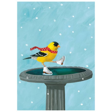 Skating Goldfinch Cards