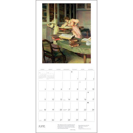 2017 Reading Woman Wall Calendar