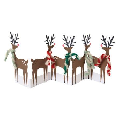 Reindeer Concertina Cards