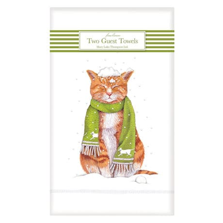 Snow Cat Guest Towels