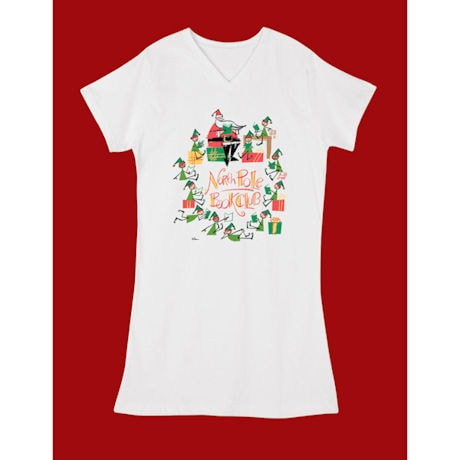 North Pole Book Club Night Shirt