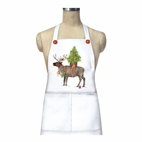 Reindeer and Cardinals Apron